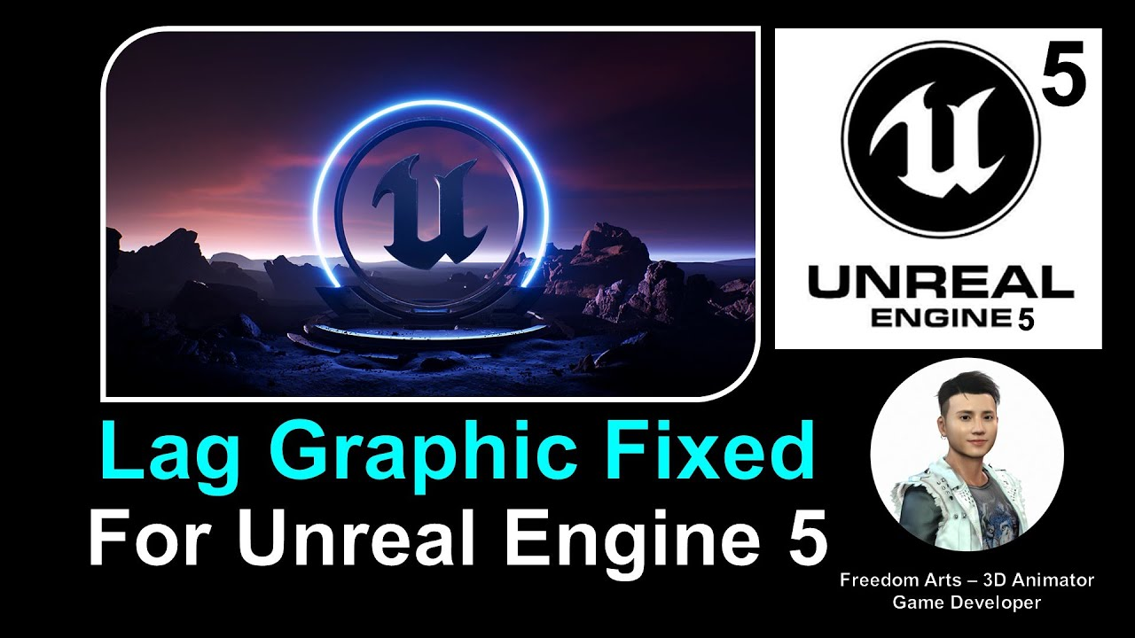 Lag Graphic Fixed for Unreal Engine 5 Editor - Full Tutorial