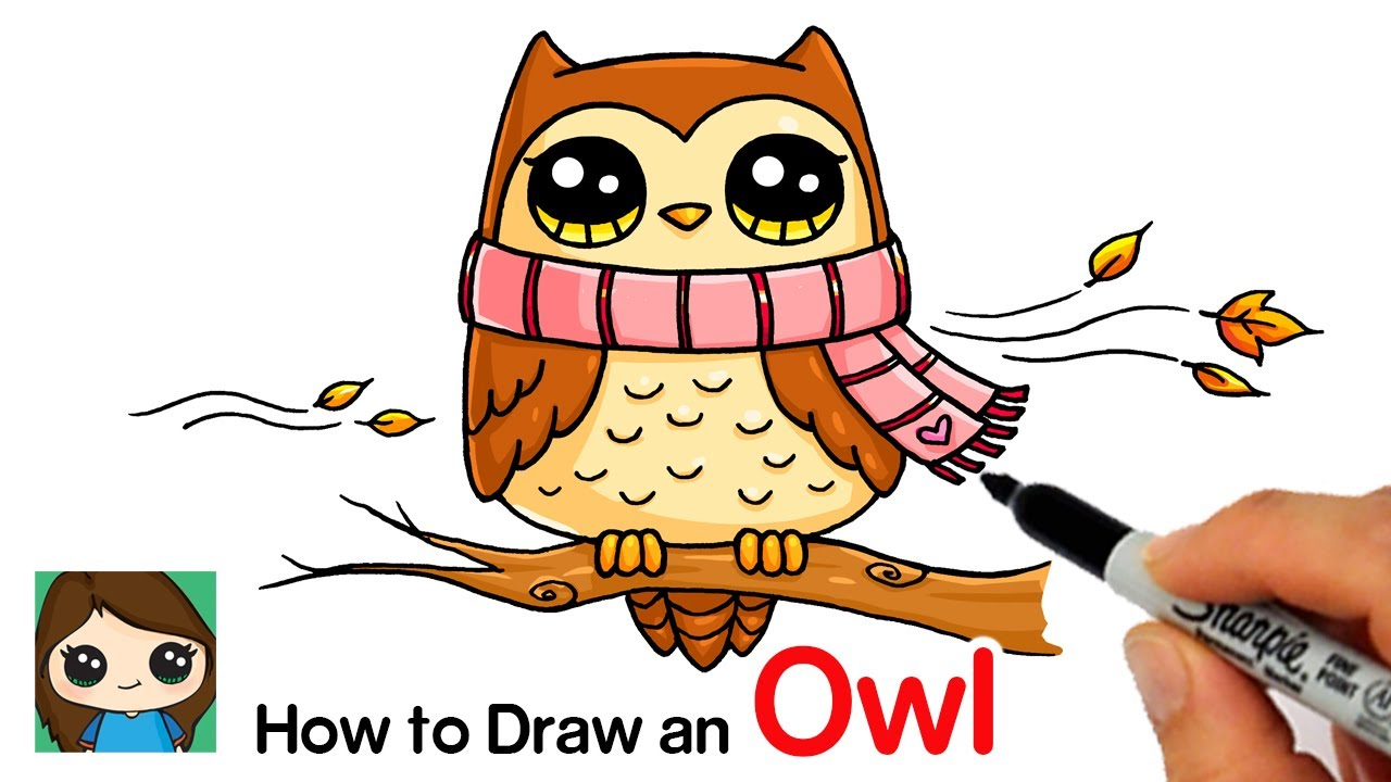 - How To Draw An Owl For Fall Easy - YouTube