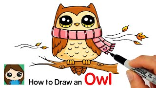 How to Draw an Owl for Fall Easy