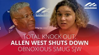 TOTAL KNOCK OUT: Allen West SHUTS DOWN obnoxious smug SJW