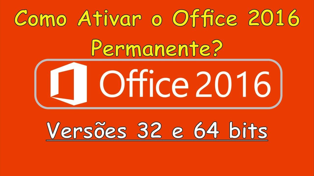 Como Ativar O Office 2016 Permanente Youtube