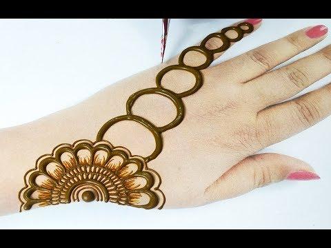 Easy Mehndi Design- Beautiful Mehndi Design for Hands - आसान अरेबिक मेहँदी डिज़ाइन लगाना सीखे