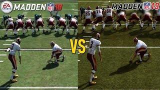 Madden NFL 19 vs Madden NFL 18 Graphics Comparison (PS4)