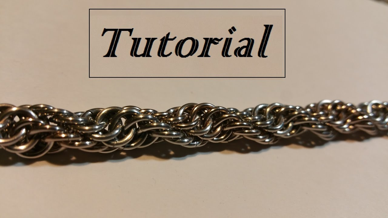 double spiral chainmaille youtube