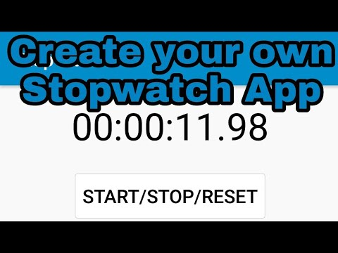Creating Stopwatch App In Sketchware