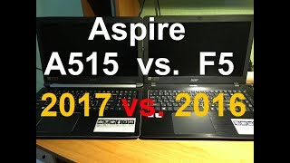 ACER A515 vs  ACER F5 573G Laptops with FHD and SSD Ноутбуки