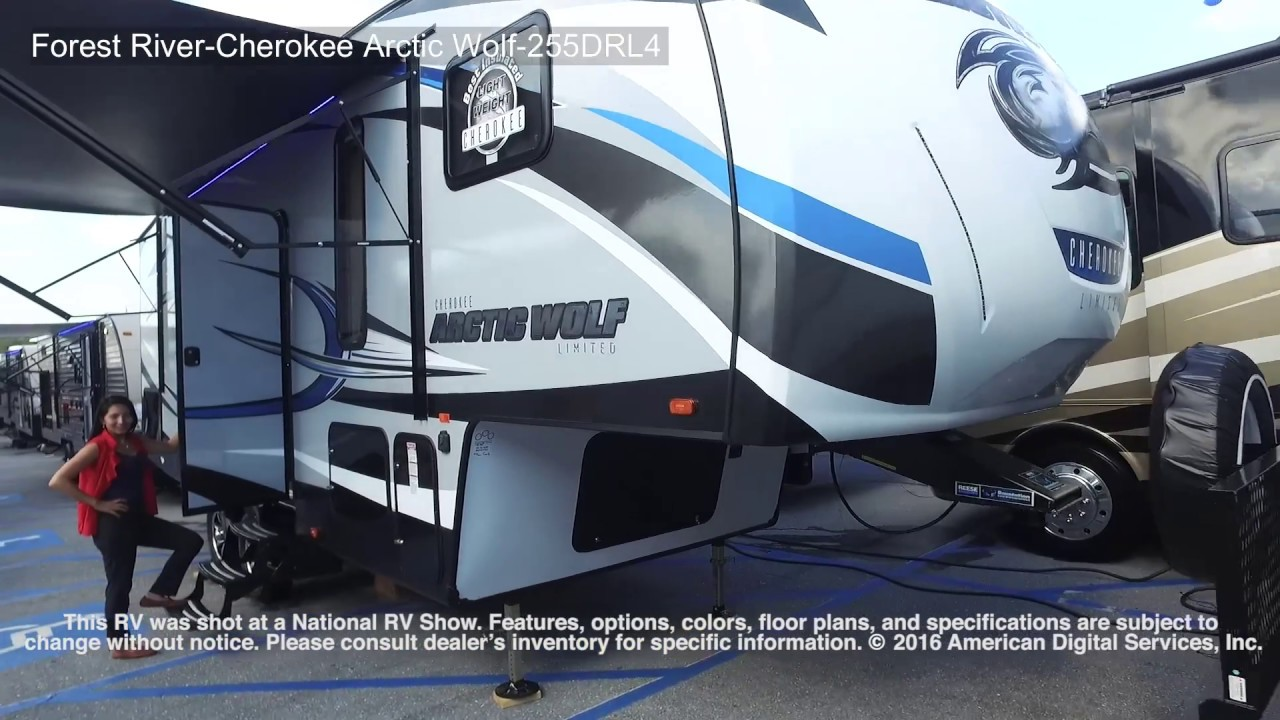 forest river cherokee arctic wolf 5th wheel 255drl4 youtube