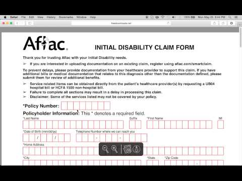 photograph about Aflac Printable Claim Forms named How towards Fill-within just Aflac Declare Variety - YouTube