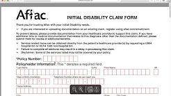 How to Fill-in Aflac Claim Form