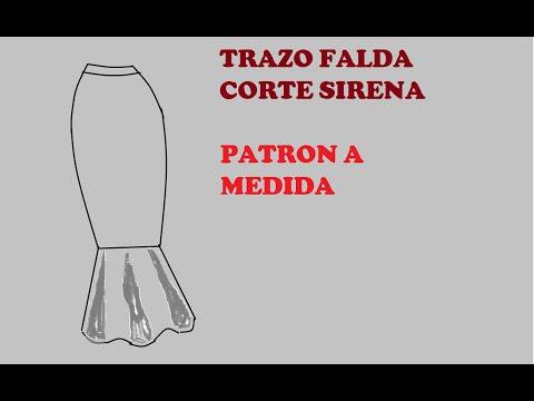 TRAZO DE FALDA CORTE SIRENA