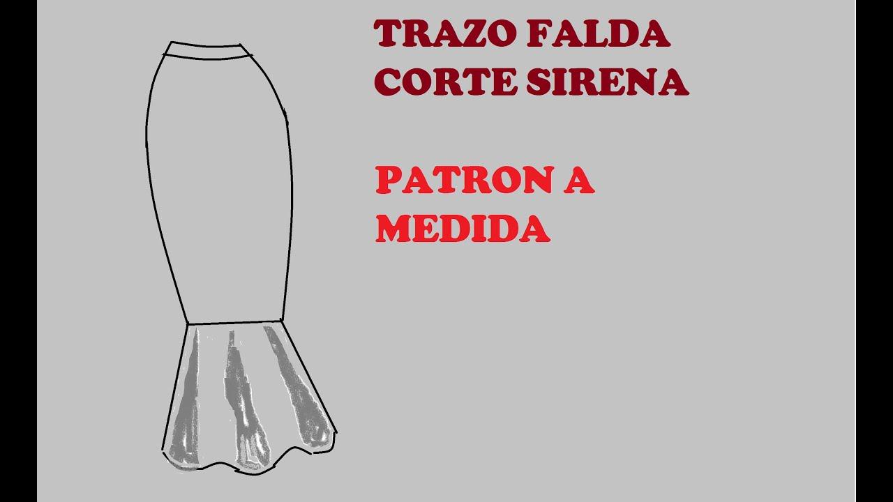 TRAZO DE FALDA CORTE SIRENA - YouTube