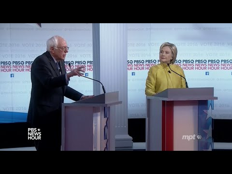 Sixth Democratic Presidential Debate | Bernie Sanders