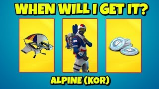 When will I get the ALPINE ACE SKIN + V-BUCKS in Fortnite