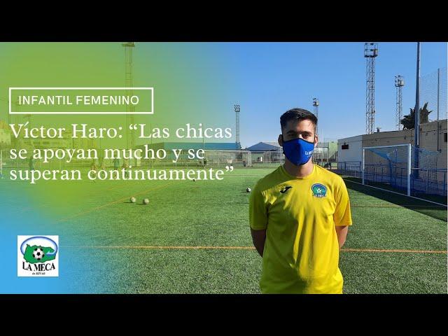 """Víctor Haro: """"Las chicas se apoyan mucho y se superan constantemente"""""""