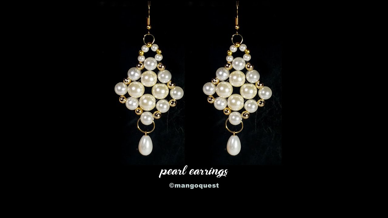 Pearl earrings tutorial quick and easy fashion jewelry diy youtube pearl earrings tutorial quick and easy fashion jewelry diy arubaitofo Image collections