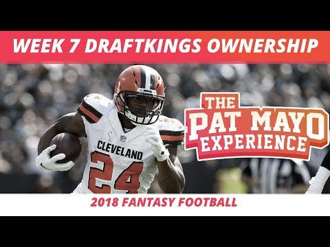 2018 Fantasy Football — Week 7 DraftKings Ownership Projections And GPP Pivot Plays