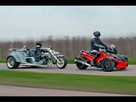 Can Am Spyder RS vs. Rewaco RF-1 GTR roadtest (english subti