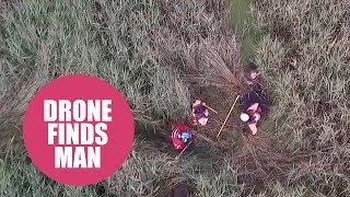 Dramatic moment police drone finds missing pensioner after 24 hour search