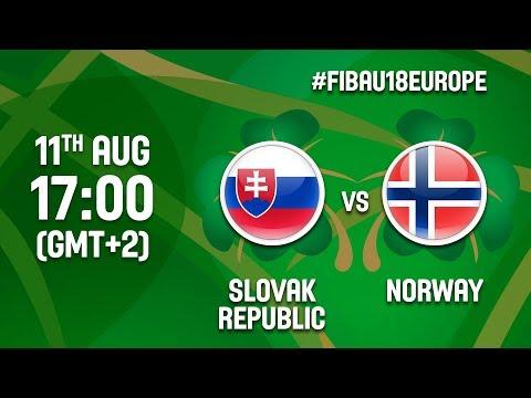 Slovak Republic v Norway - Full Game - CL 9-16 - FIBA U18 Women's European Championship 2017 - DIV B