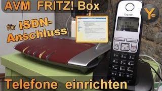 FRITZ! Box 7490: Einrichtung eines Telefons (z.B.Gigaset) am ISDN-Anschluss