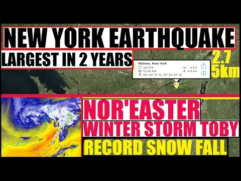 "WINTER STORM TOBY ""RECORD Snow"" in NYC 12-18IN EARTHQUAKE! Largest in NEW YORK IN over 2 YEARS!"