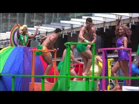 TORONTO 2016 PRIDE Floats Gay Village