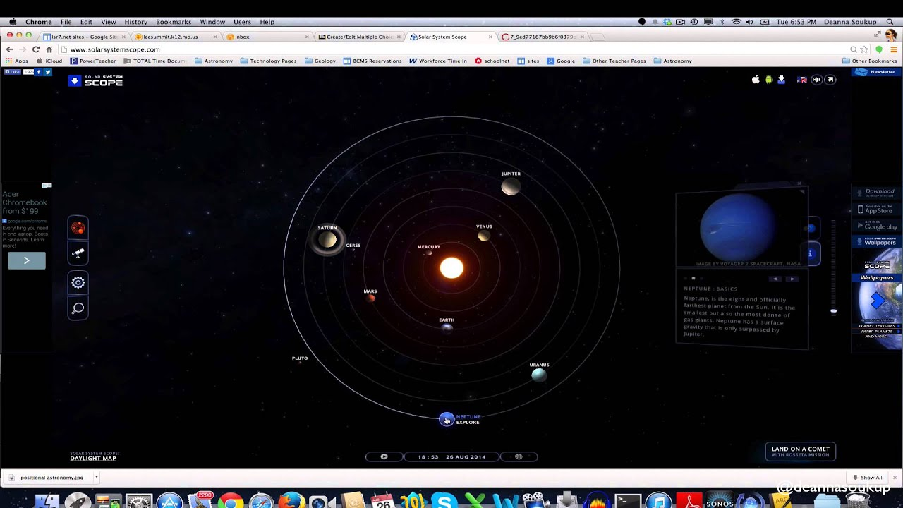 Solar System Scope: Positional Astronomy, Finding Planets ...