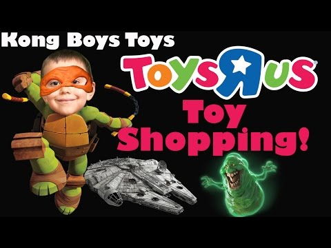 Toys R Us Shopping #2! Star Wars, Ninja Turtles, Dude Perfect, Ghost Busters & More!