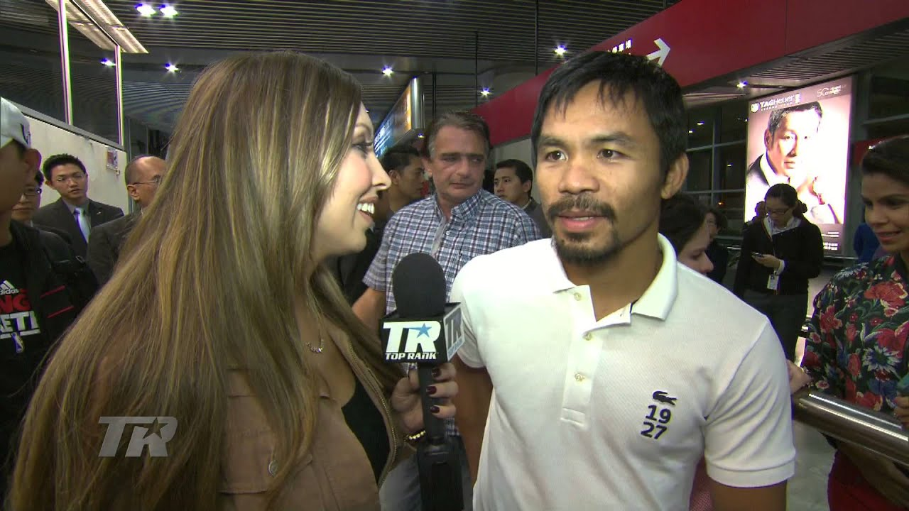 Manny Pacquiao Arrives in Macau