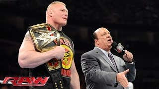 paul heyman addresses the rumors about brock lesnar s wwe future raw march 9 2015