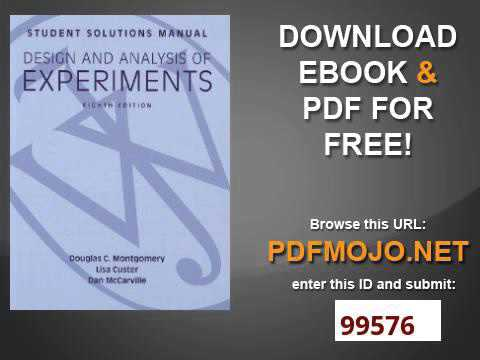Design And Analysis Of Experiments Montgomery Ebook