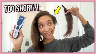 I CUT ALL MY HAIR OFF! 😬(it's really short...)