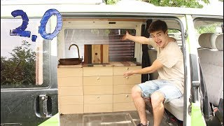 Do it yourself designer kitchen for my VW bus! | E.06 Reconstruction 2.0