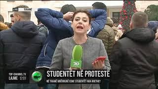 Protesta e studentëve para Kryeministrisë - Top Channel Albania - News - Lajme