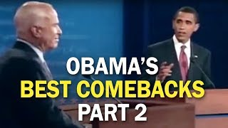 Obama\'s Best Comebacks and Rebuttal Moments - Part 2