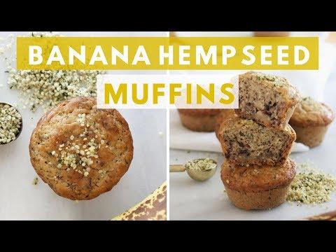 Gluten-Free Dairy-Free Banana Hemp Seed Muffins | Healthy Grocery Girl