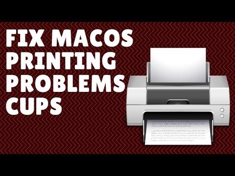 Fix Printing Problems macOS Sierra