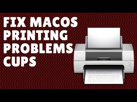 Fix Printing Problems macOS