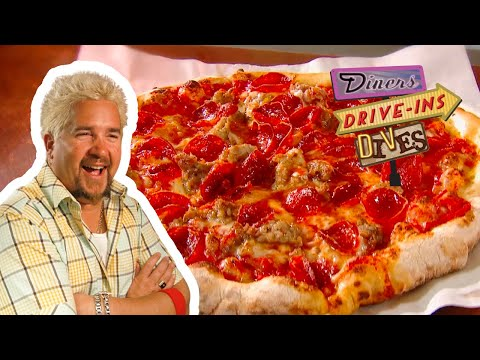 Guy Fieri Says This Is NOT Your Average Sausage And Pepperoni Pizza | Diners, Drive-ins And Dives