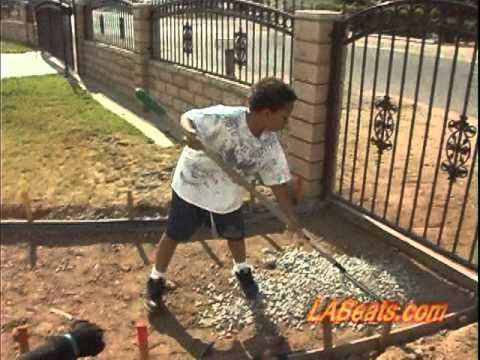 The single daddy show how to build a concrete walkway for Removing concrete walkway