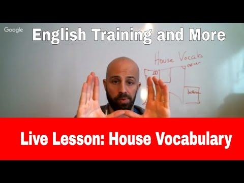 Lower Intermediate English Lesson (House Vocabulary)