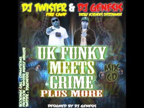 DJ GENESIS & DJ TWISTER   PRESENTS FUNKY MEETS GRIME 2011 MIX CD