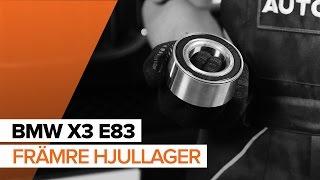 Montera Hjullager fram vänster höger BMW X3 (E83): gratis video