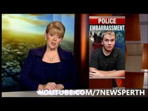 SEVEN NEWS PERTH - POLICE EMBARRASSMENT 7/06/2012
