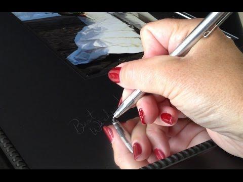 Signing a Signature Mat by Signature Keepsakes