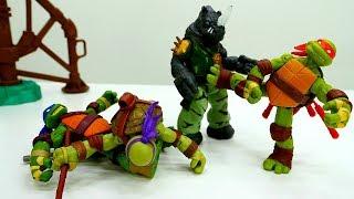 Супер Черепашки-Ниндзя заболели - Видео игрушки для мальчиков