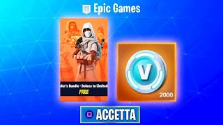 HOW TO GET 2000 V-BUCKS AND SAVE THE FREE WORLD!!! (Eon Bundle) Fortnite ITA