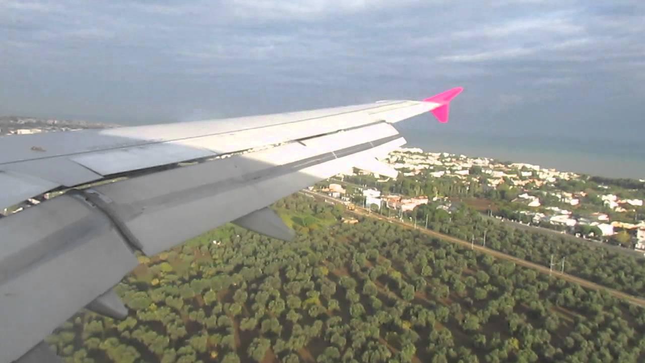 Aeroporto Bari : Atterraggio wizz air aeroporto di bari youtube