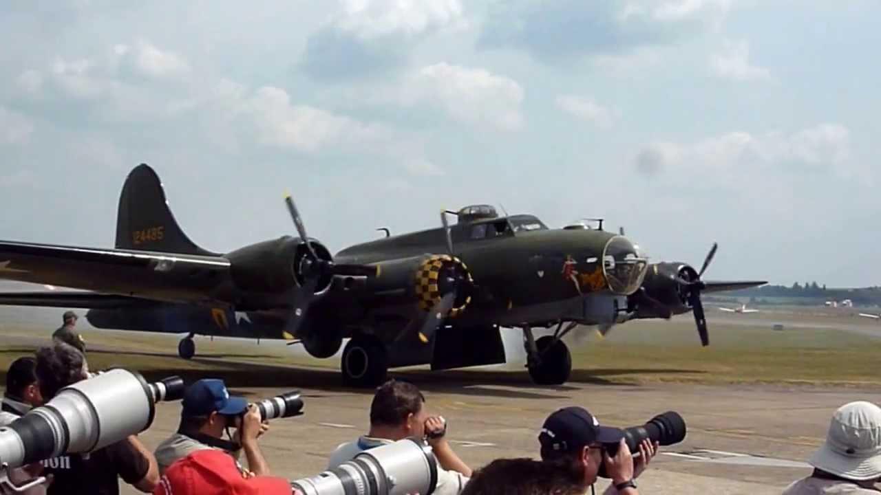 Sally b memphis belle b 17 bomber duxford 2013 take off for B b com