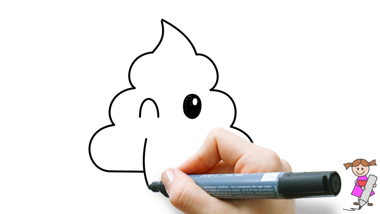 Leer Om Een Lachende Poep Emoticon Te Tekenen Voor Kinderen Youtube Tekenen Voor